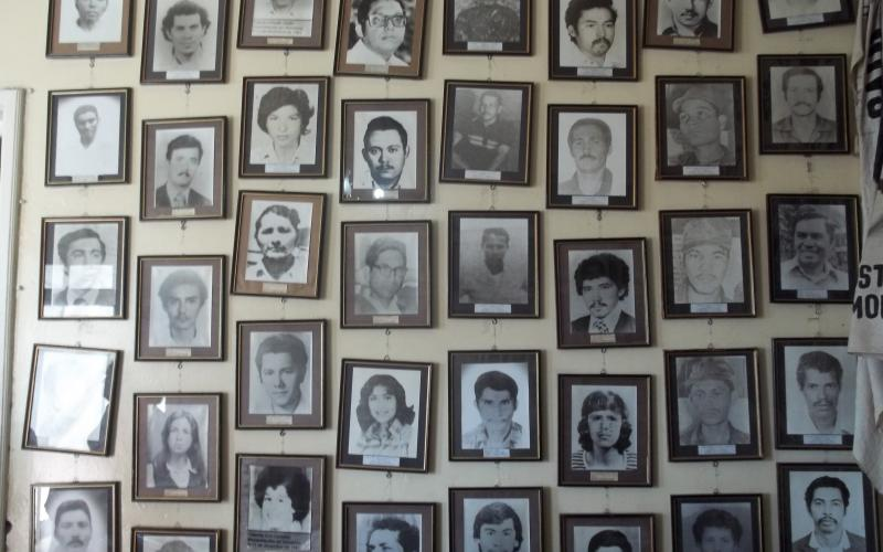 Photos of disappeared persons in Honduras.